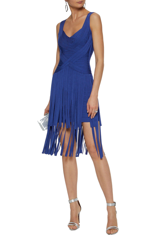 Low Cost Low Cost Hervé Léger Woman Fluted Bandage Mini Dress Royal Blue Size M Hérve Léger Pay With Visa For Sale Buy Cheap 2018 Newest Cheap Wholesale xvG71Cm0gr