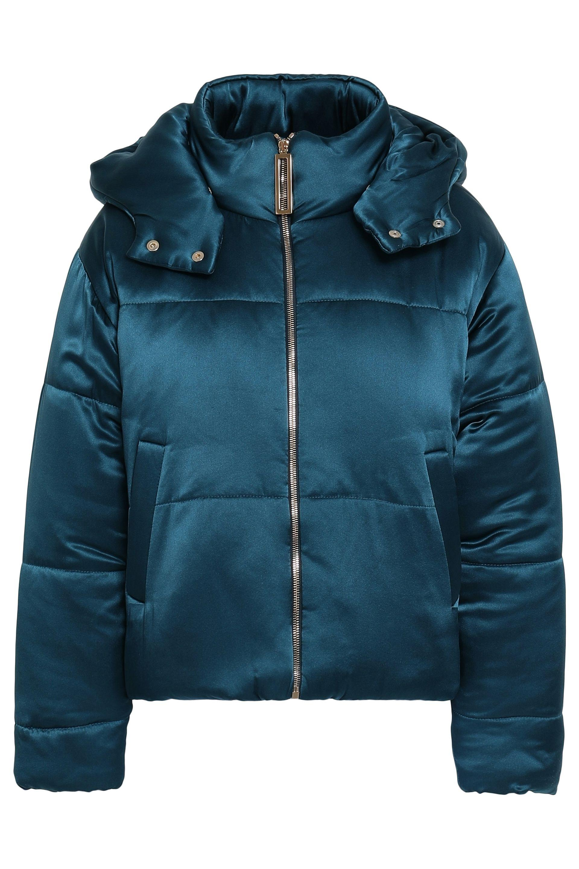 ceafc5a01fc70 Olivia Von Halle Woman Quilted Silk-satin Hooded Down Jacket Petrol ...