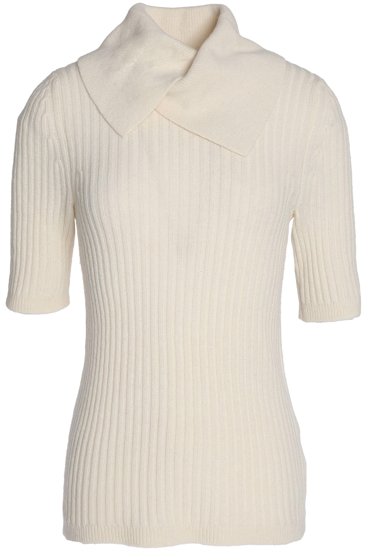 Enjoy Sale Online Clearance Low Shipping Fee Ganni Woman Ribbed Merino Wool-blend Sweater Ivory Size M Ganni 7F02Z89hHN