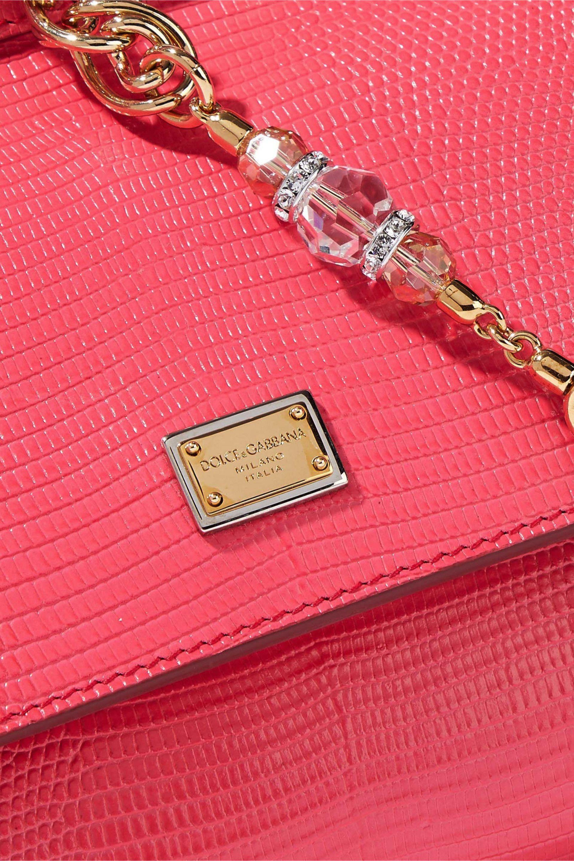 1912b442 Dolce & Gabbana - Pink Woman Lizard-effect Leather Shoulder Bag Bubblegum -  Lyst. View fullscreen