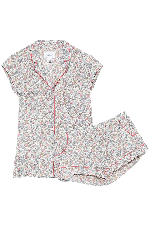 Three J Nyc Woman Floral-print Cotton-poplin Pajama Set Taupe Size XL Three J NYC Manchester Great Sale Sale Online Pick A Best Sale Online uxfdBCJo