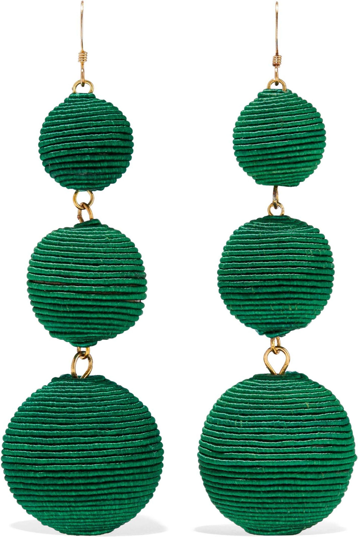 Kenneth Jay Lane Kenneth Jay Lane Woman Gold-tone Cord Earrings Black Size njnmyM