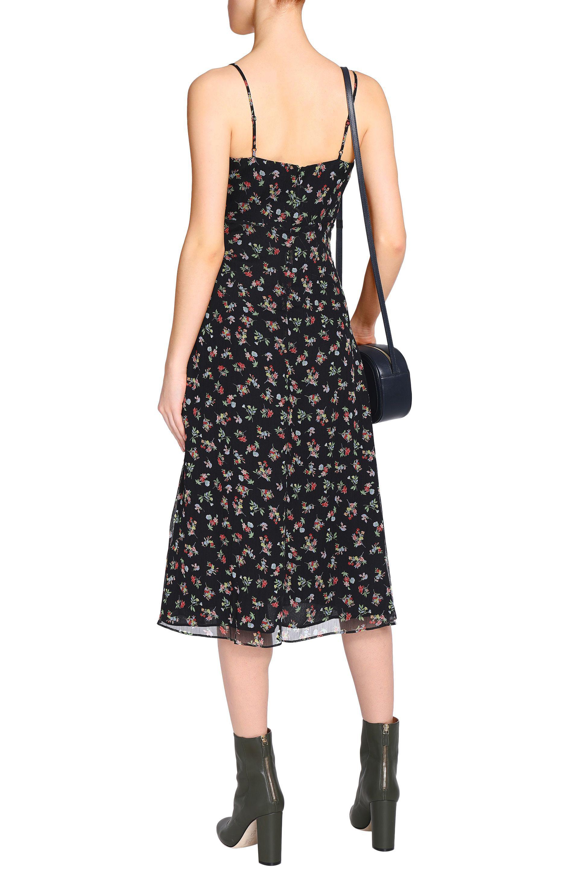 Bailey 44 Woman Cutout Floral-print Chiffon Midi Dress Black Size 10 Bailey 44 71e1JN
