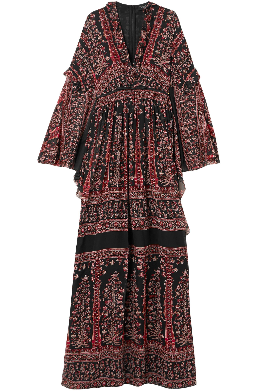 8daec582c4 Lyst - Giambattista Valli Woman Ruffle-trimmed Printed Silk-chiffon ...