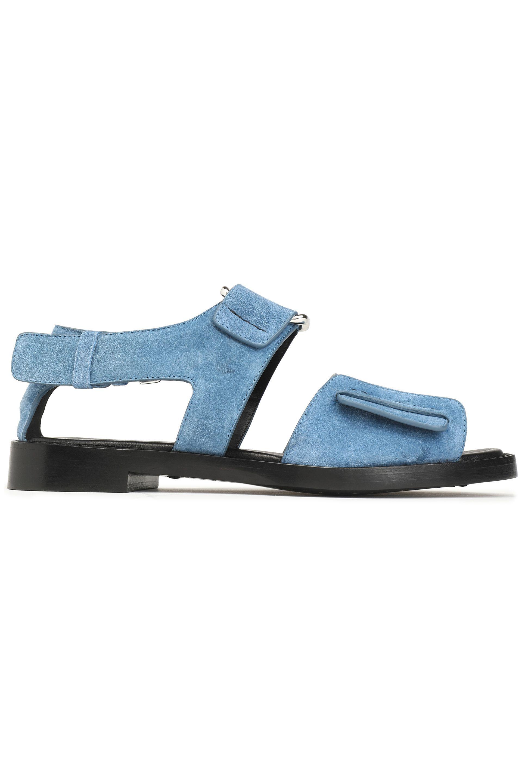 a413f1ef7b4 3.1 Phillip Lim Woman Addis Cutout Suede Sandals Sky Blue in Blue - Lyst