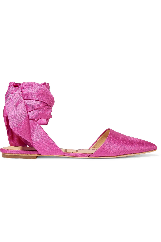 238b381f9 Lyst - Sam Edelman Brandie Satin Point-toe Flats in Pink
