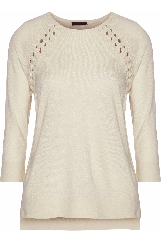 a5d0f4eca5 Belstaff. Women s Lattice-trimmed Knitted Top