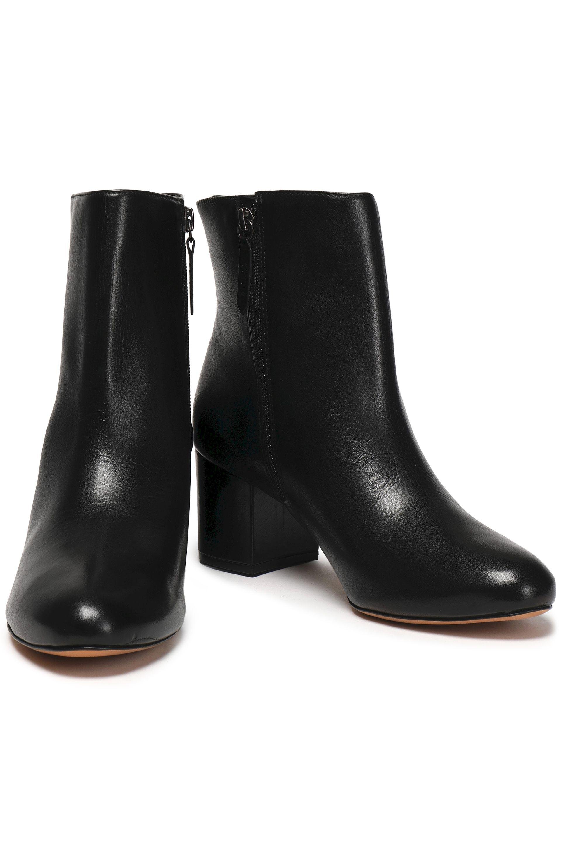 Schutz Leather Ankle Boots Black