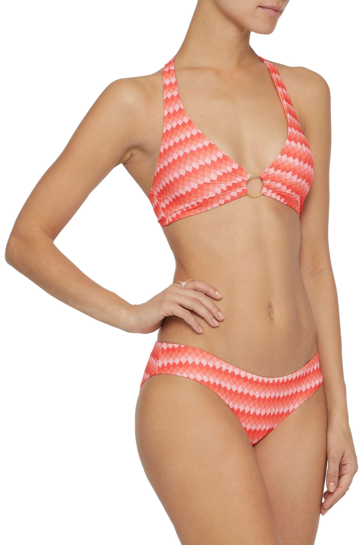 06c7bfc6005b7 Lyst - Melissa Odabash Woman Vienna Printed Halterneck Bikini Top ...