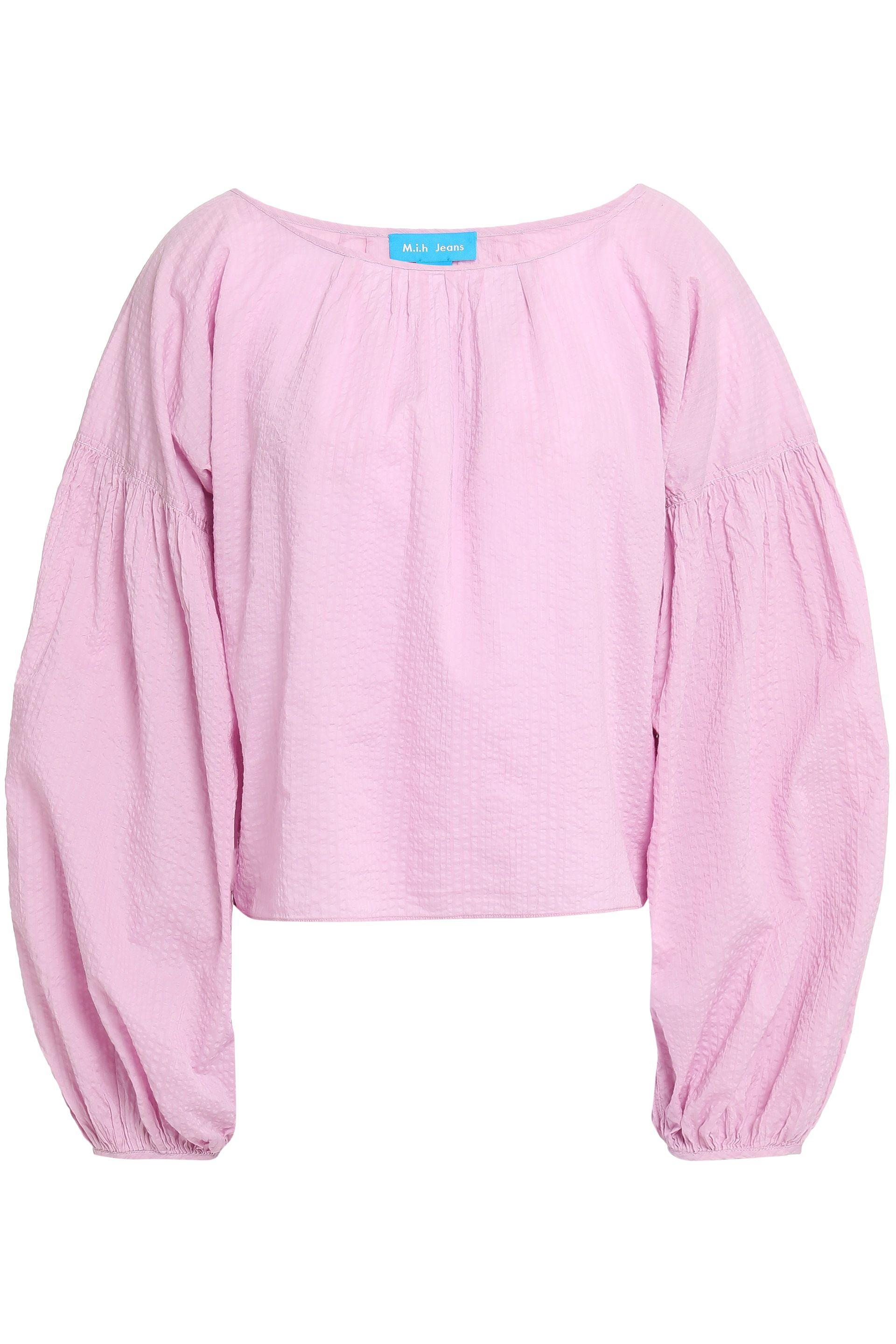 732a4ae3e0c M.i.h Jeans Woman Cotton Seersucker Top Lavender in Pink - Lyst