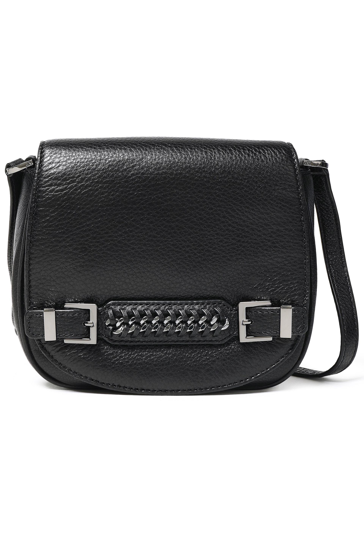 73073ea7d633 Diane von Furstenberg. Women s Woman Iggy Chain-embellished Textured-leather  Shoulder Bag Black