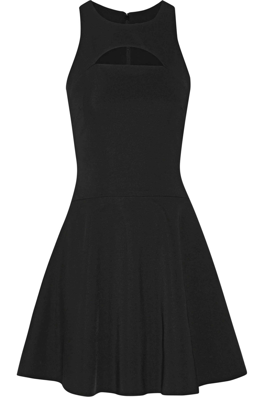 Cushnie et Ochs. Women's Black Monica Cutout Stretch-knit Mini Dress