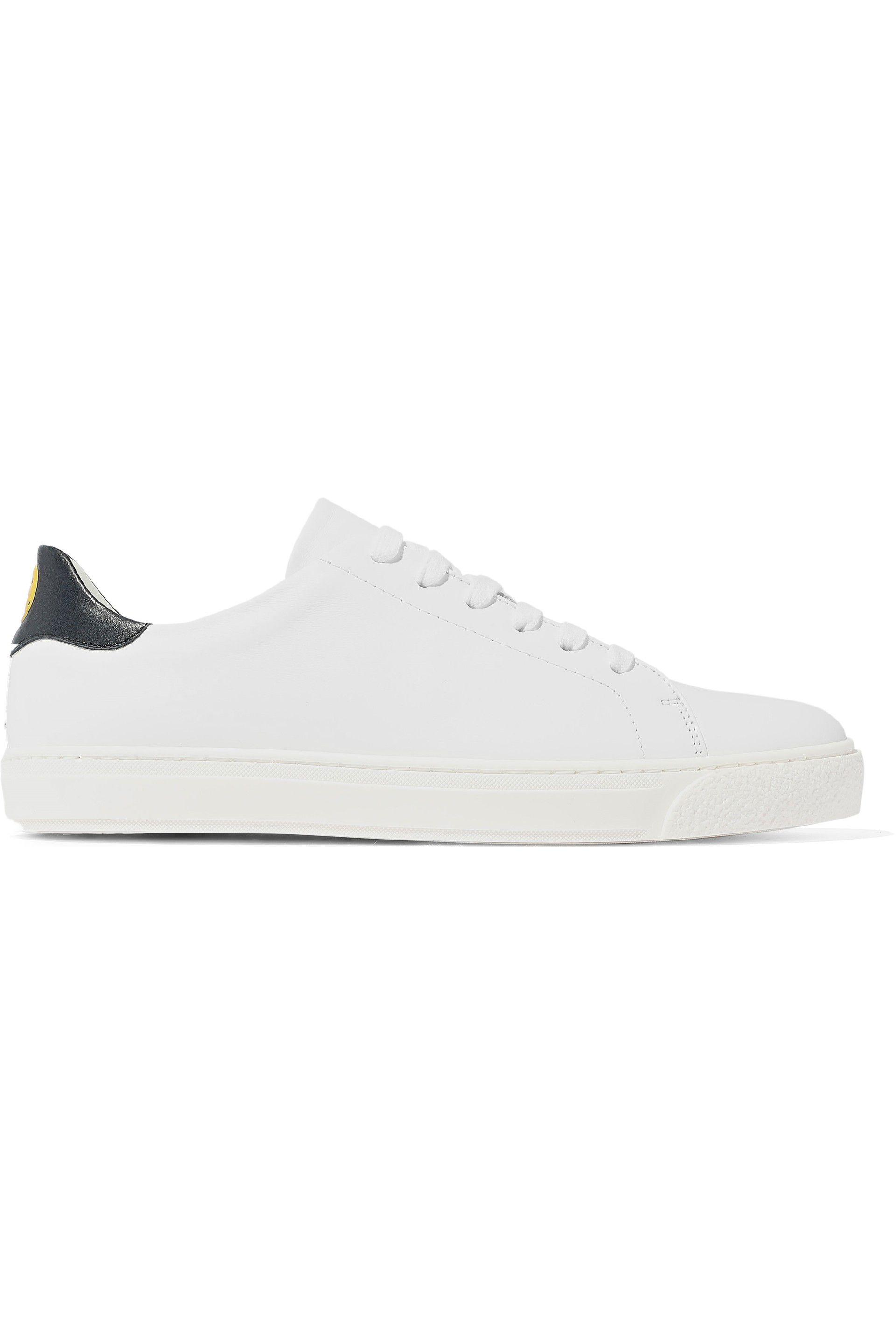 Anya Hindmarch Wink Printed Leather Sneakers in White - Lyst ac8b4d05ff4