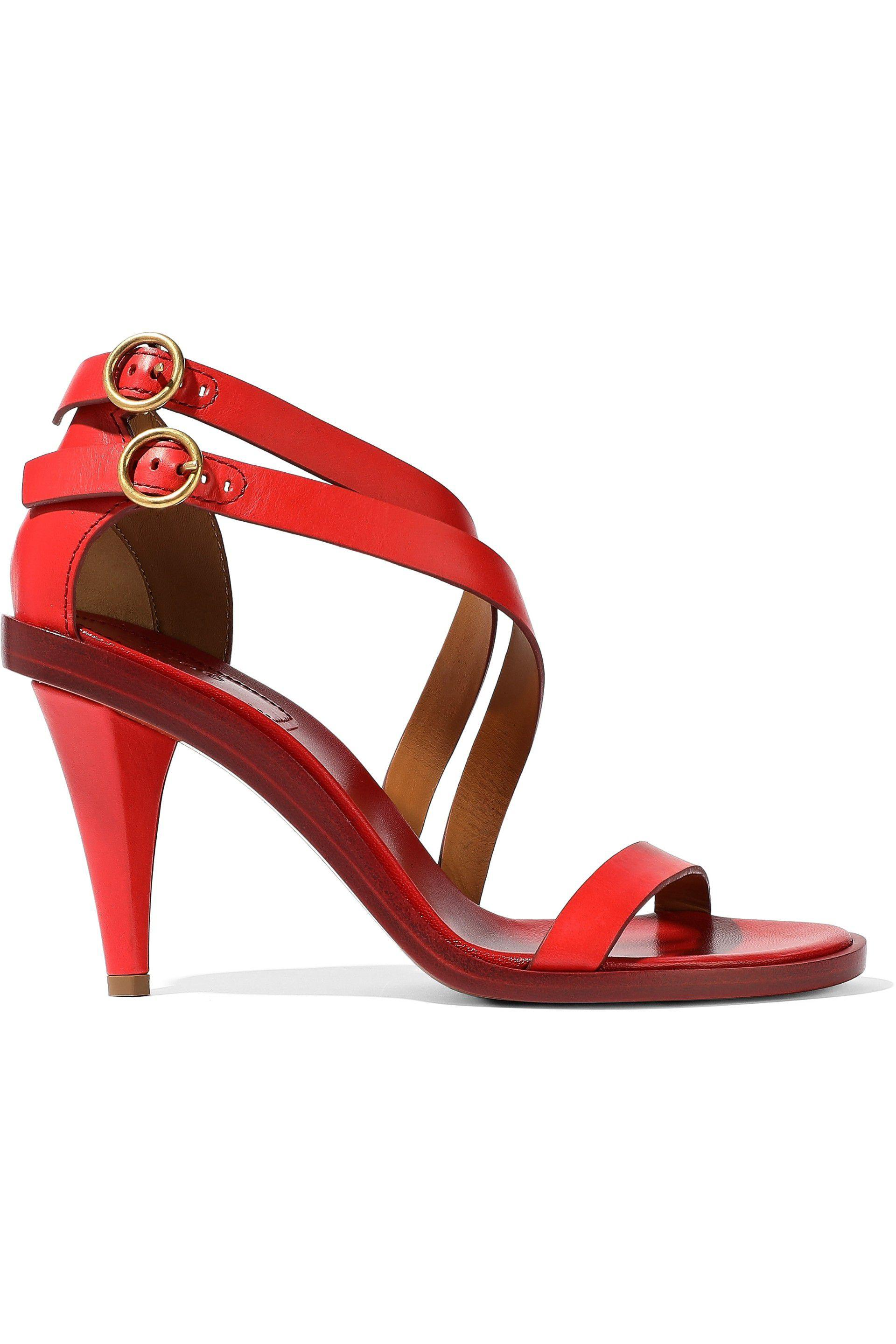 Chlo 233 Niko Sandals In Red Lyst