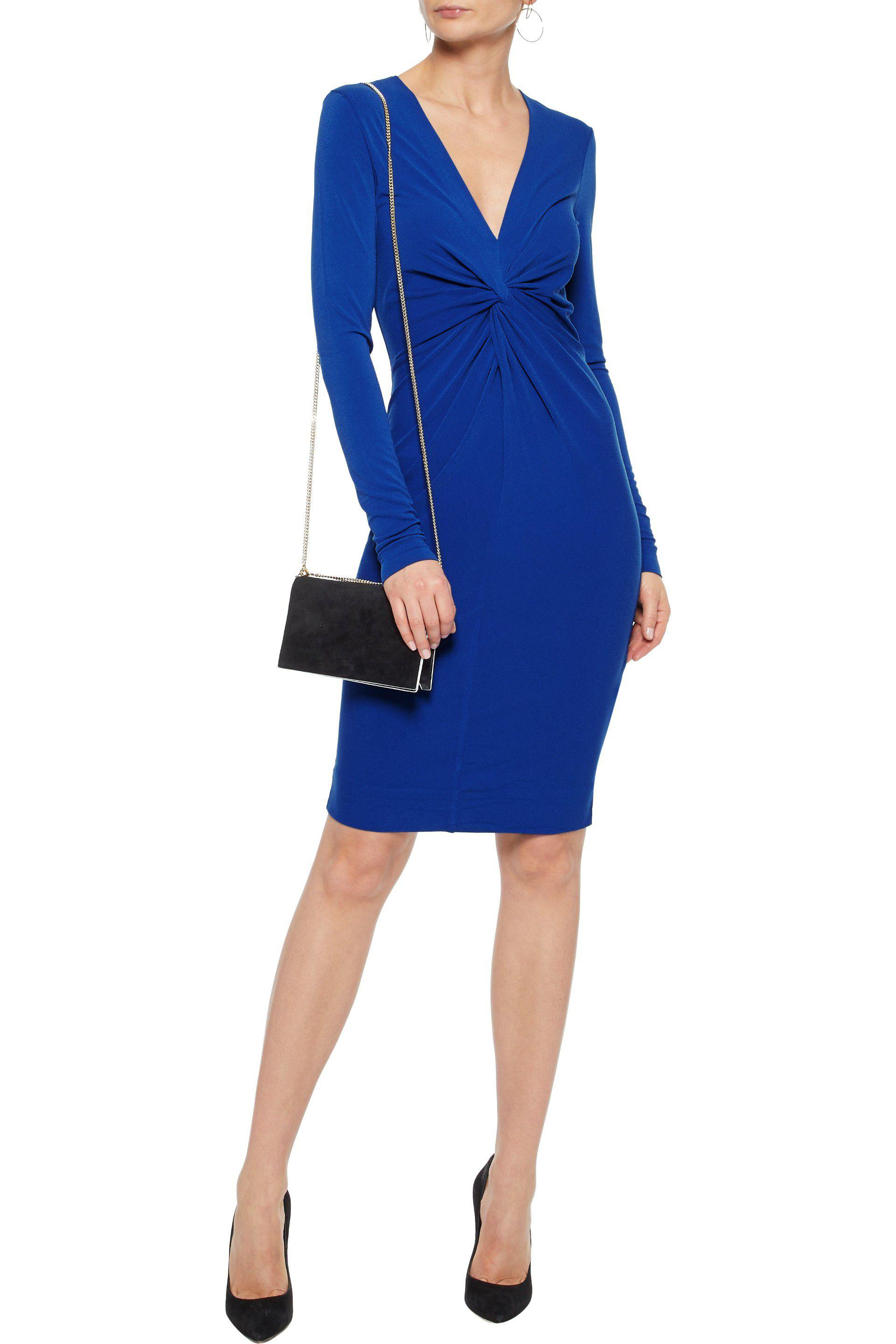 By Malene Birger Woman Knotted Crepe Dress Royal Blue Size M By Malene Birger Sjf4x5DDy