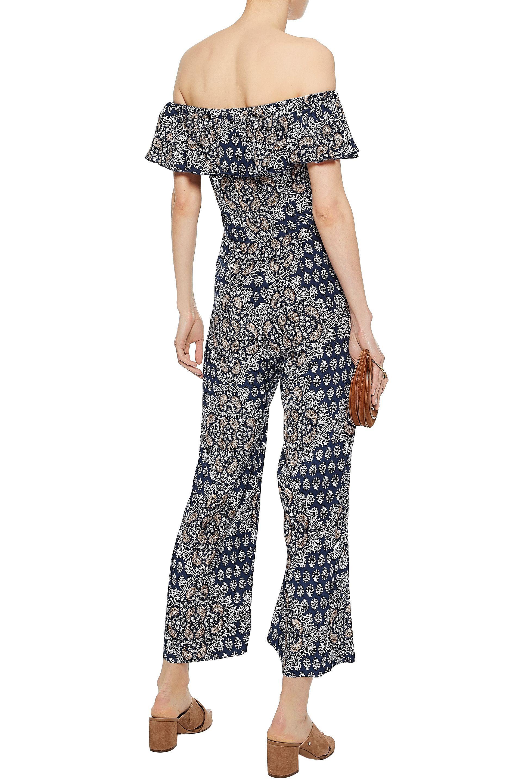 9c7a48e4305 Lyst - L Agence Off-the-shoulder Floral-print Silk-crepe De Chine ...