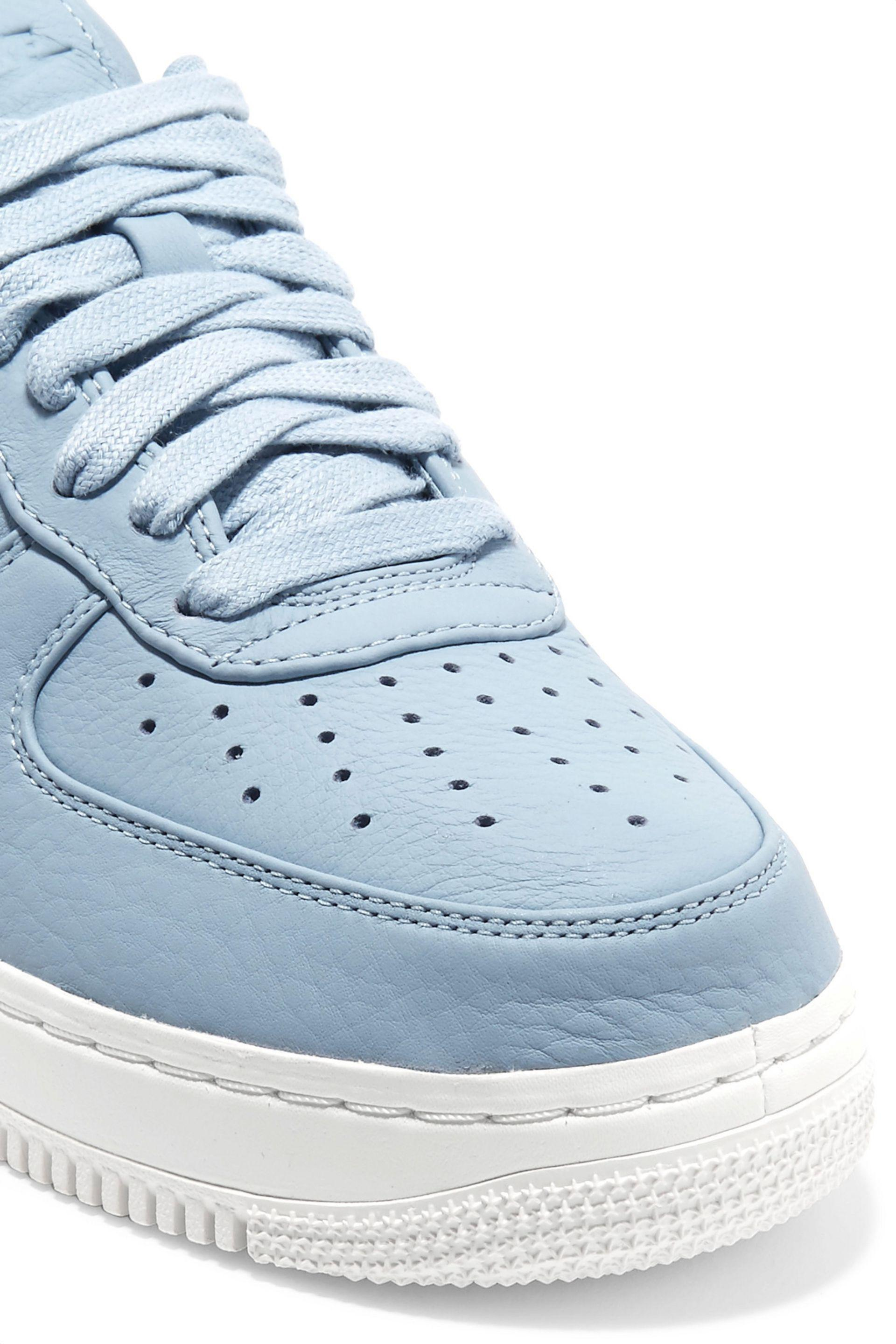Nike Blue Air Force 1 Perforated Leather Sneakers