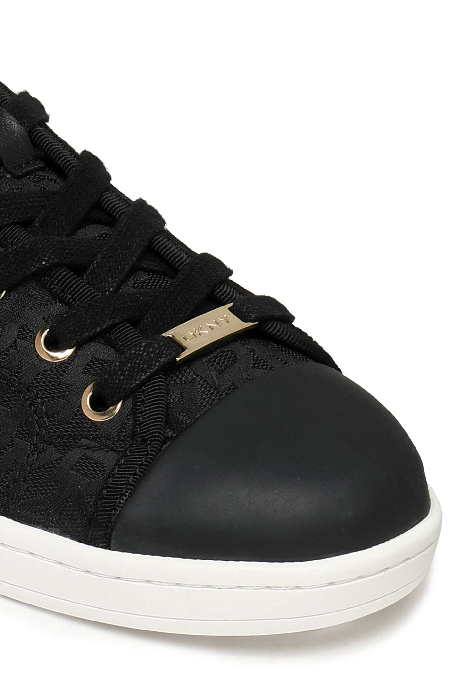 DKNY Rubber-trimmed Jacquard Sneakers in Black