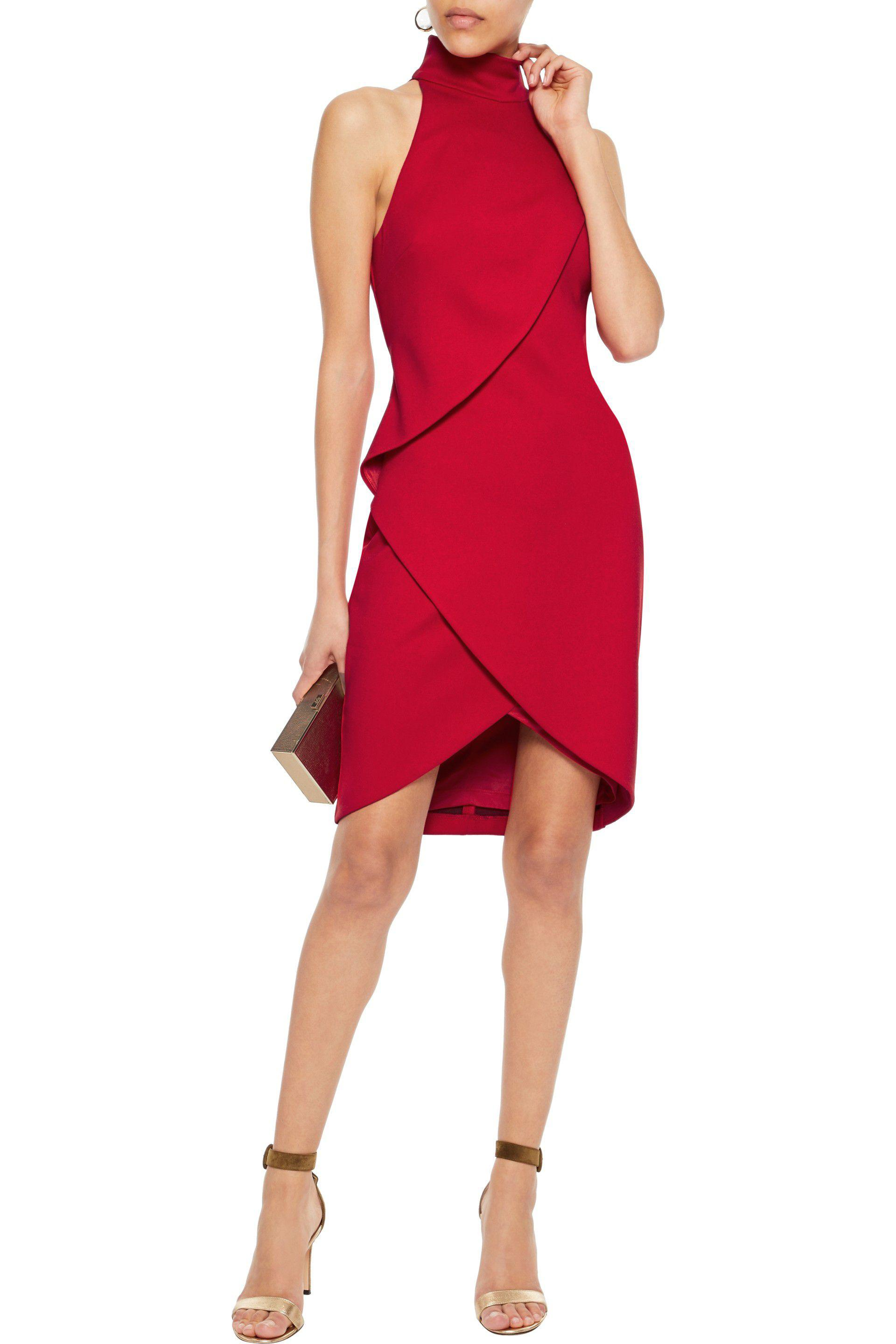 Free Shipping Genuine Bailey 44 Woman Orei Wrap-effect Ponte Dress Red Size M Bailey 44 The Cheapest For Sale Cheap Price Cost Cheap Online Shop For Cheap Price oEXBB3y