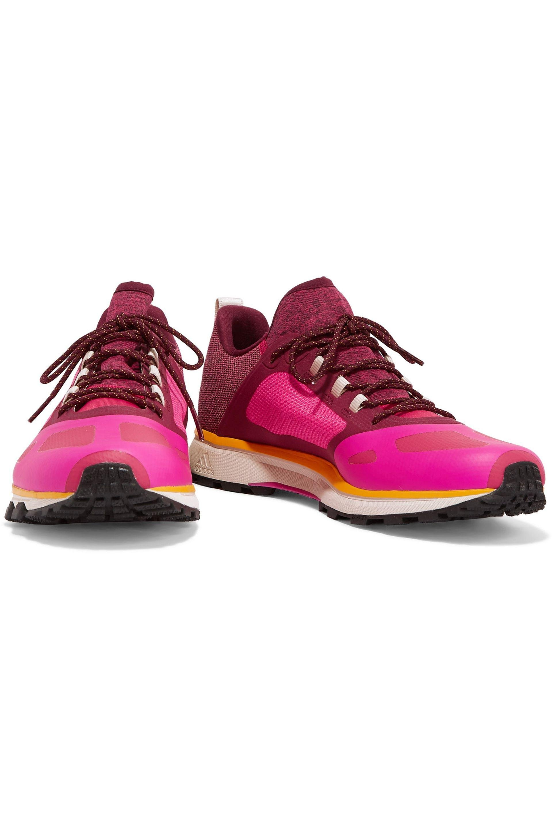 adidas By Stella McCartney Rubber Adizero Xt Running Sneaker in Bright Pink (Pink)