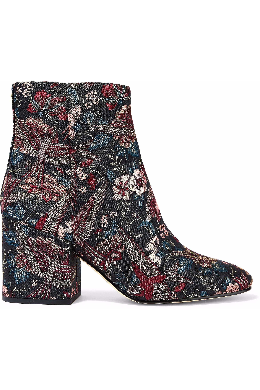 690a4bb4c3e9 Sam Edelman. Women s Woman Taye Metallic Jacquard Ankle Boots Multicolor