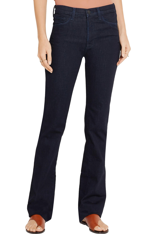 J Brand Cameron High-rise Bootcut Jeans Dark Denim in Blue