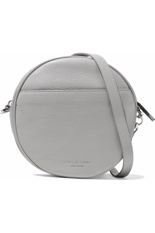 69b077d95c Lyst - Halston Pebbled-leather Shoulder Bag in Gray