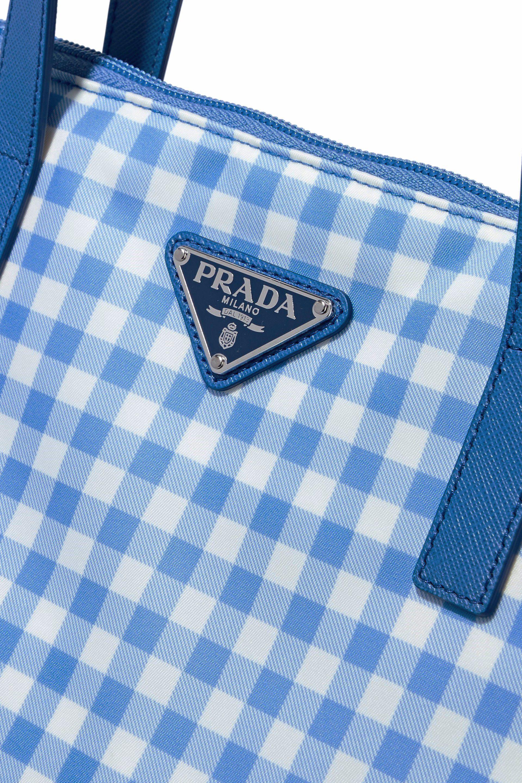 f26fb5d88fb8 Prada Donna Lady Shopping Tote Bag in Blue - Lyst