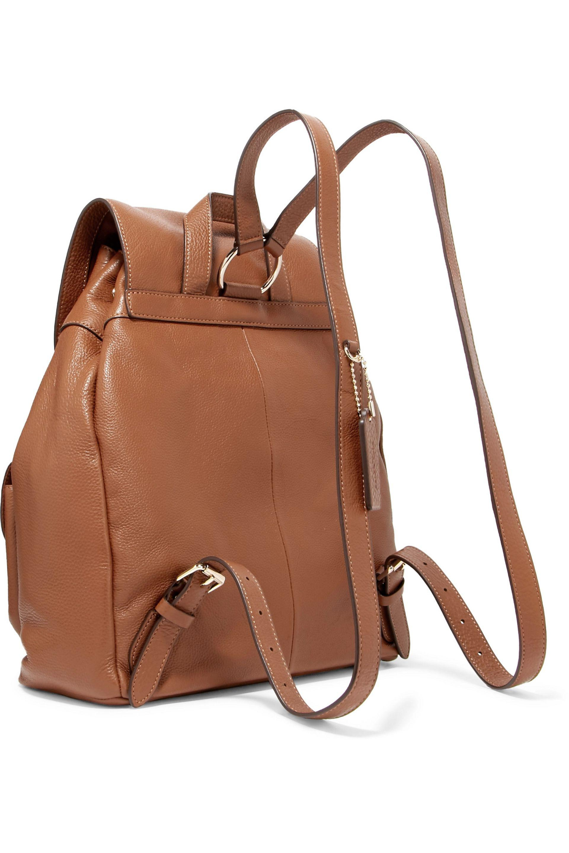 9a57c9cabedb COACH Billie Textured Leather Backpack in Brown - Lyst