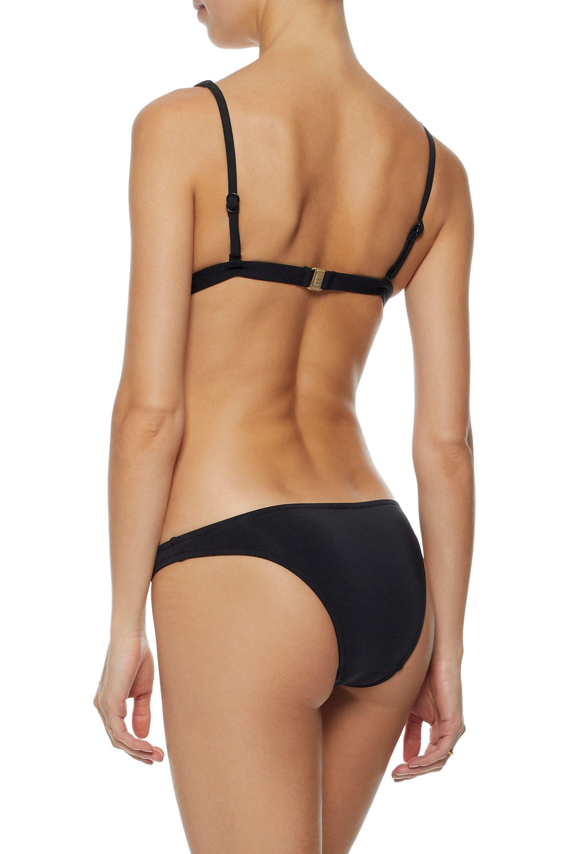 0ef0cf7d6ef86 Jets by Jessika Allen - Woman Jetset Longline Triangle Bikini Top Black -  Lyst. View fullscreen