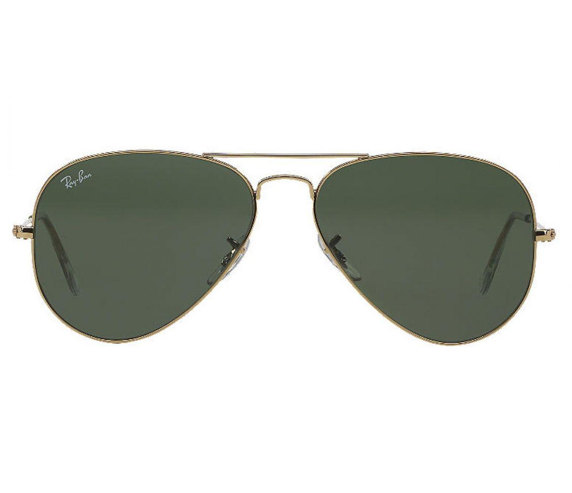 85b5cc85e6c Ray-Ban. Men s Metallic Aviator Classic Rb3025 L0205 Gold With Green Lenses  Sunglasses