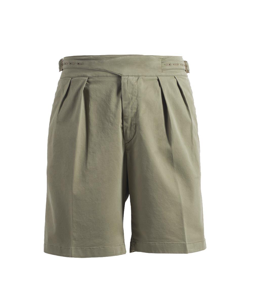 Beige Manny Cotton Shorts Rubinacci Bk17UP