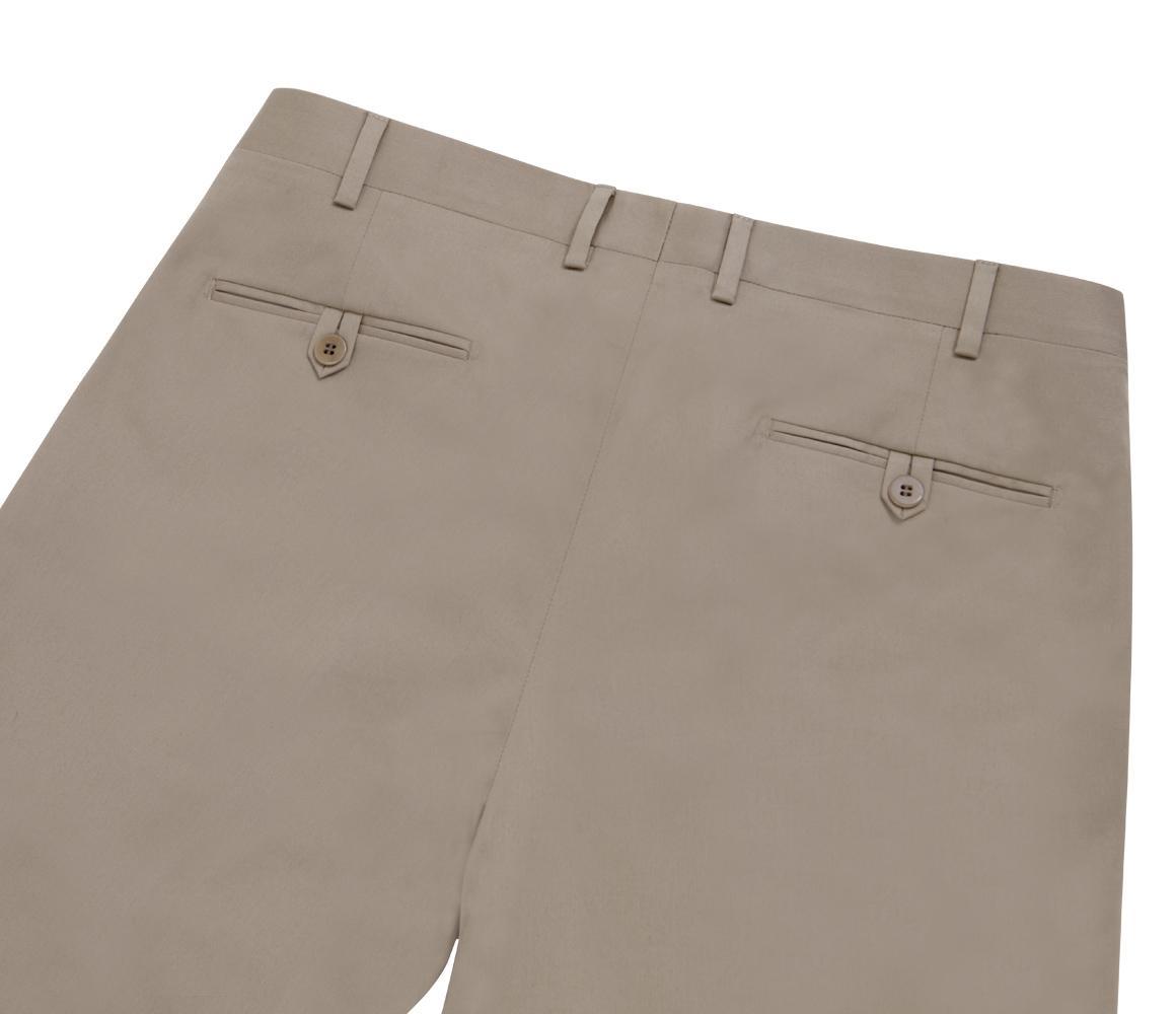 Pantalons De Coton Jambe Droite Beige Cifonelli VgHep