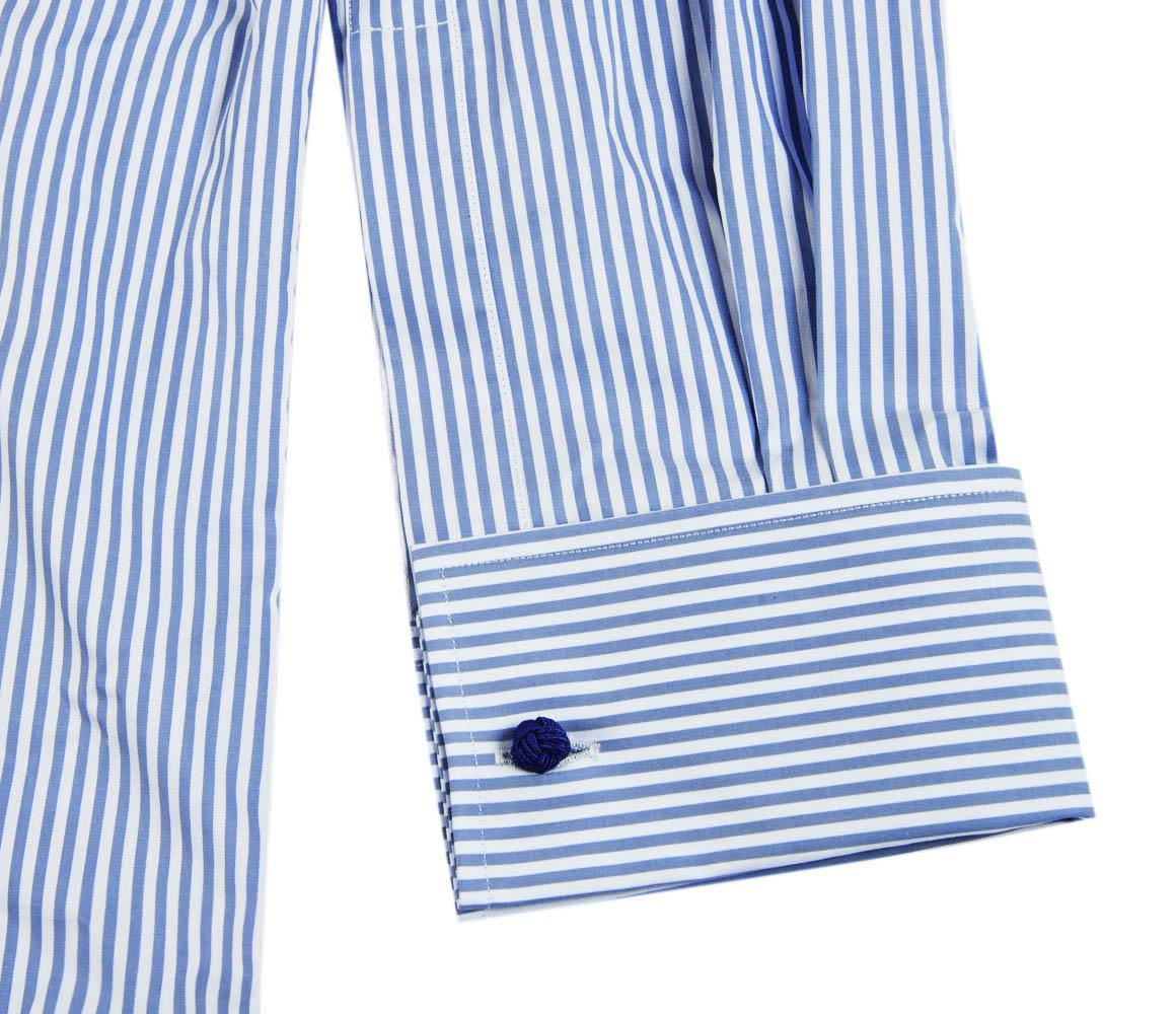 blancas Bengala Barrie cuello con algodón azules de y de rayas extendido Chester Camisa de wPzgCpZqn