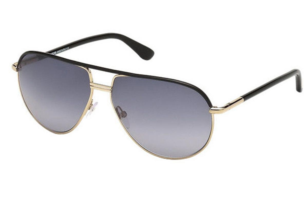 f50774d583 Tom Ford Cole Black And Gold Frames With Grey Lenses Sunglasses ...