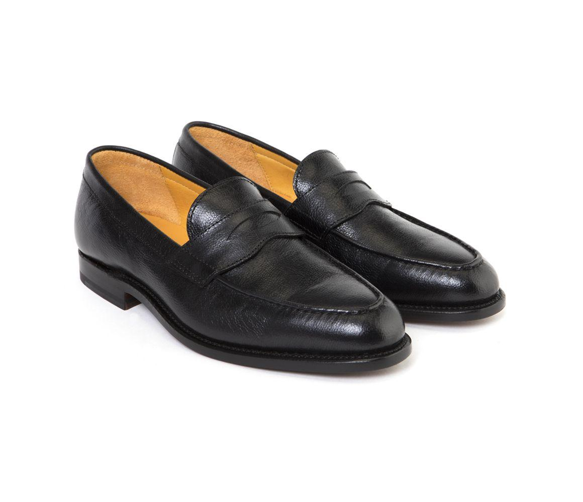 63de30788e9 Lyst - Ludwig Reiter Black Camel Leather Penny Loafers in Black for Men