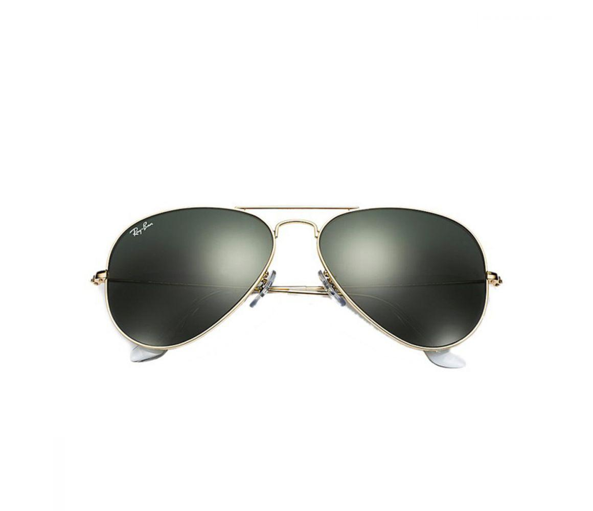 aed8895c3a Lyst - Ray-Ban Aviator Classic Rb3025 L0205 Gold With Green Lenses ...