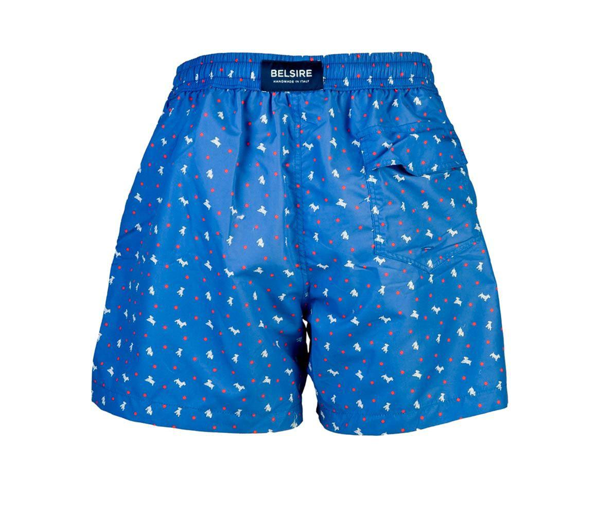339a161687 Lyst - Belsire Light Blue Dog Print Fast-dry Polyester Swimming ...