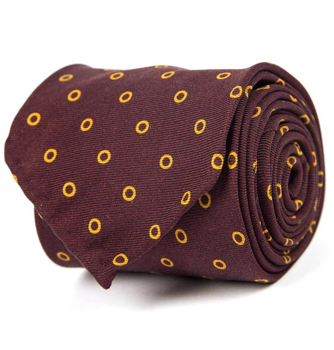 Navy And Gold Silk Tie Rubinacci 9dlUB