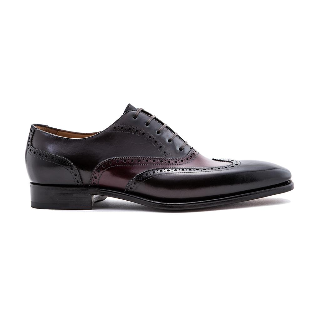 Burgundy and Black Leather Brogues Paolo Scafora 0v3cTf