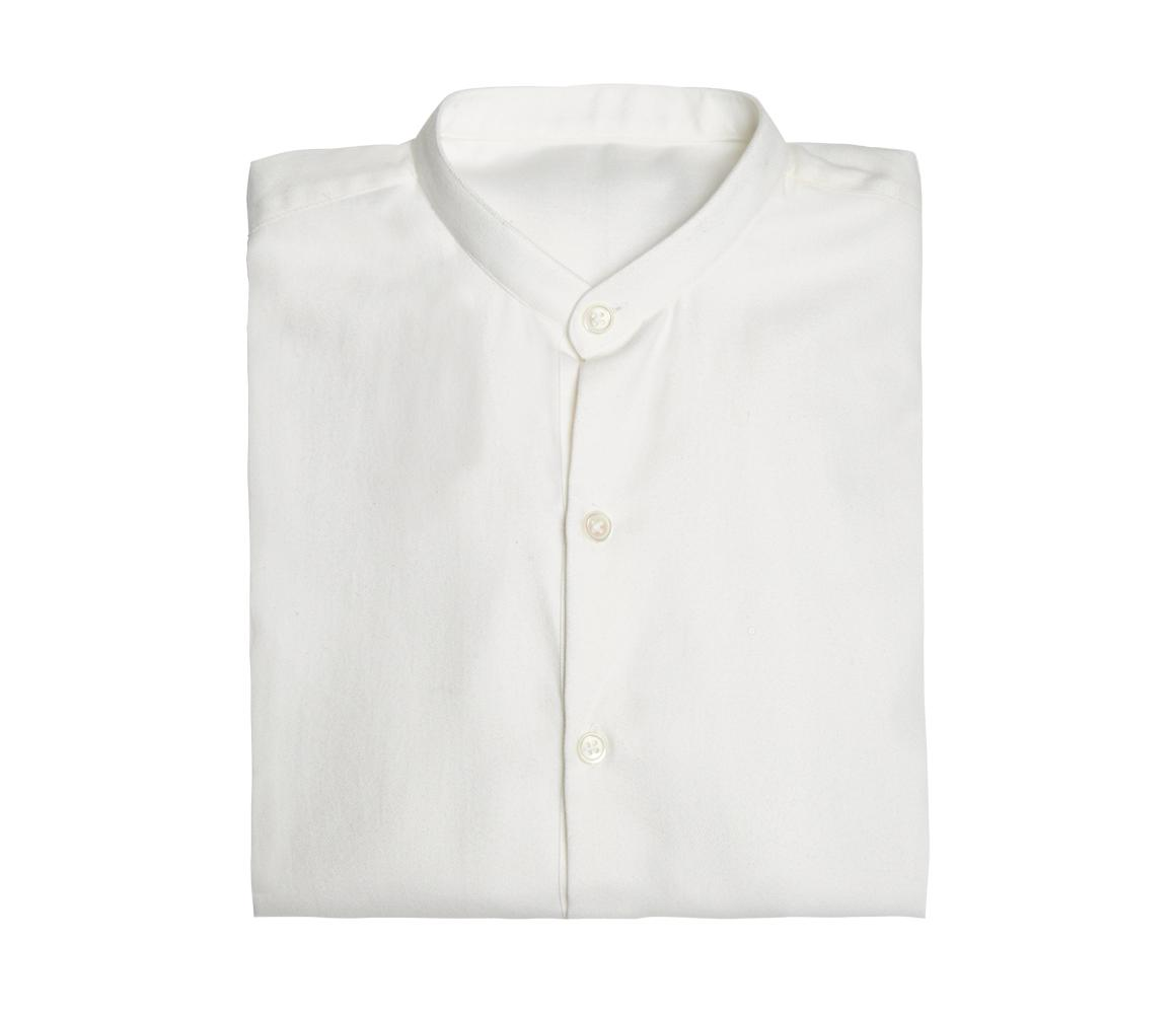 Outlet 2018 White Collarless Cotton and Cashmere Shirt Anderson & Sheppard Cheap Sale Ebay UJJflQd4