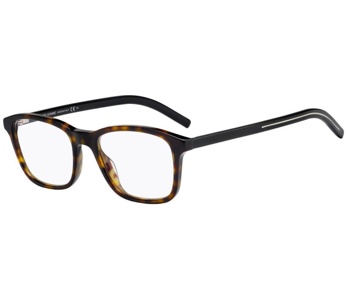 1df8ab2dcf8 Dior Homme. Men s Dark Brown Tortoiseshell Square Frames With Clear Lenses  ...