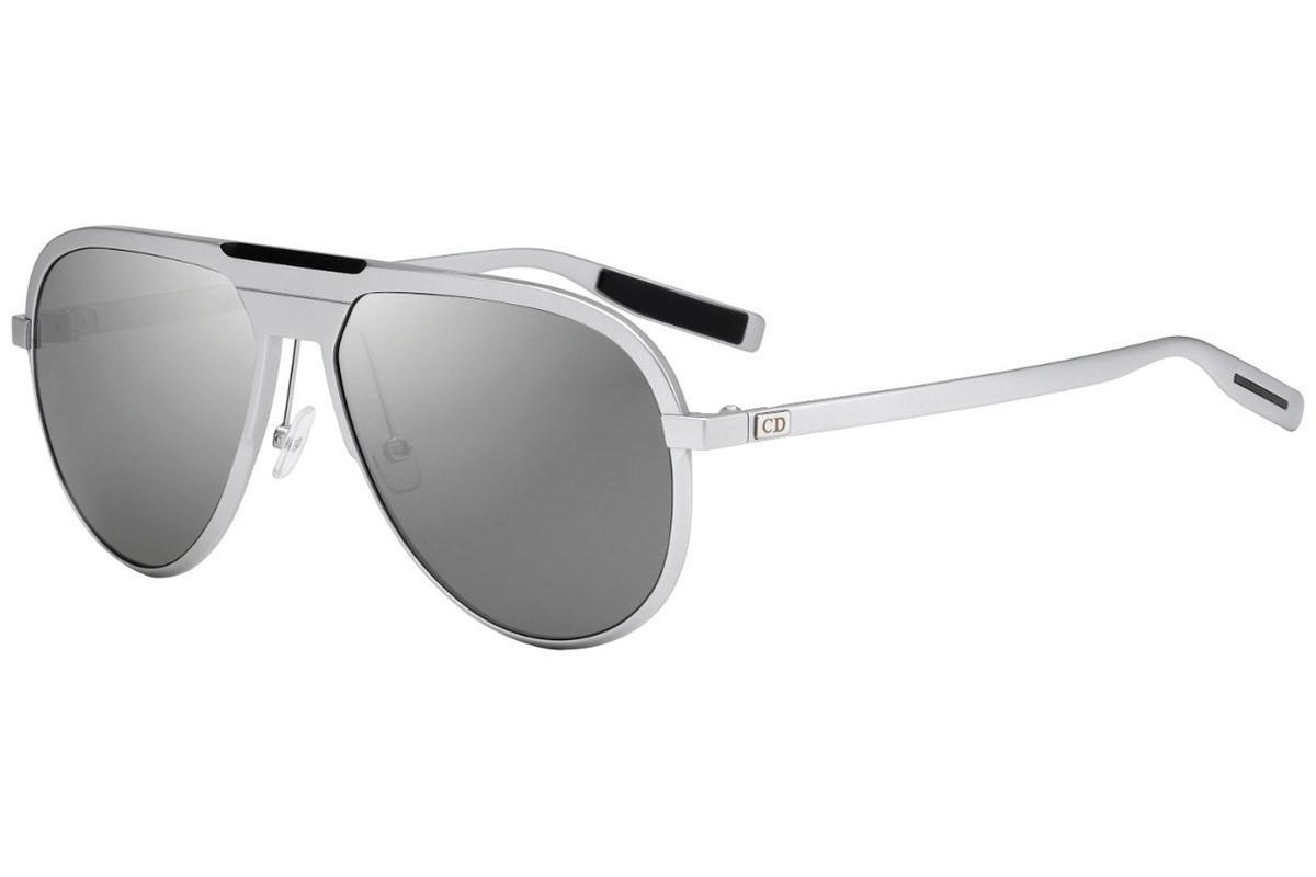 a6ca463d21d Dior Homme Silver Aviator Frames With Polarized Grey Lenses 13.6 011 ...