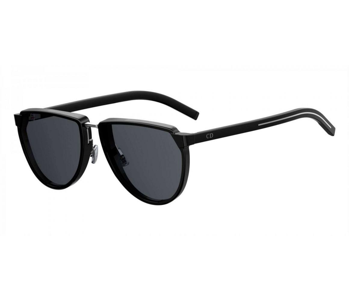 48faece13281 Dior Homme Black Round Frames With Black Lenses Sunglasses 248s-807 ...