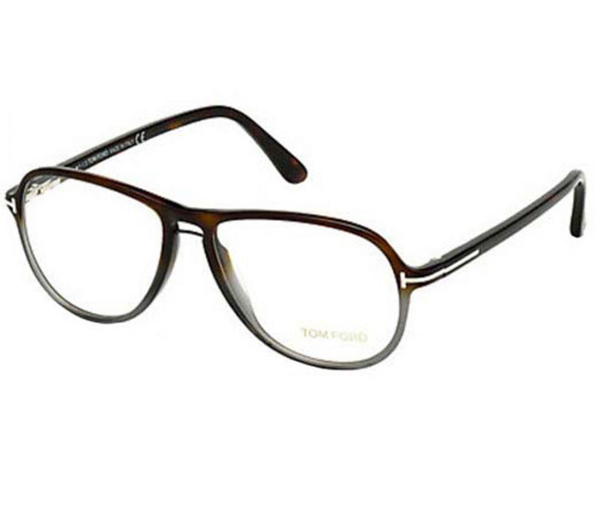 4567c8f29c7b Tom Ford. Men s Brown And Grey Gradient Frames With Clear Lenses Eyewear ...