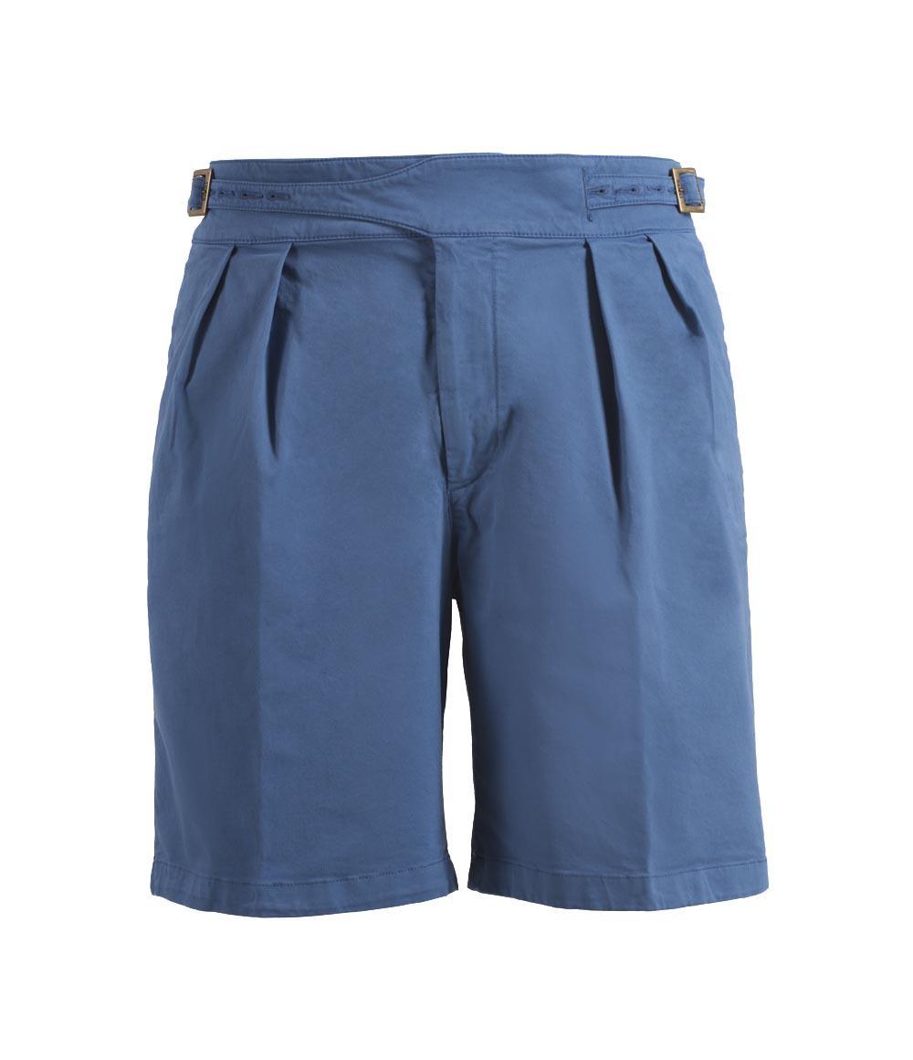 Light Blue Manny Cotton Shorts Rubinacci vjKVu2