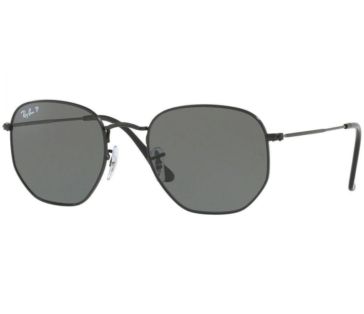 a99e76e2bd Ray-Ban. Men s Hexagonal Rb3548n 002 58 Black Frames With Flat Grey Lenses  Sunglasses
