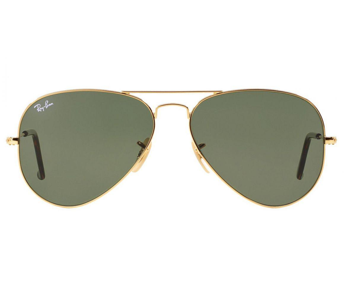 697e4156303f Ray-Ban. Men s Metallic Aviator Rb3025 181 Gold Frames With Grey Lenses  Sunglasses