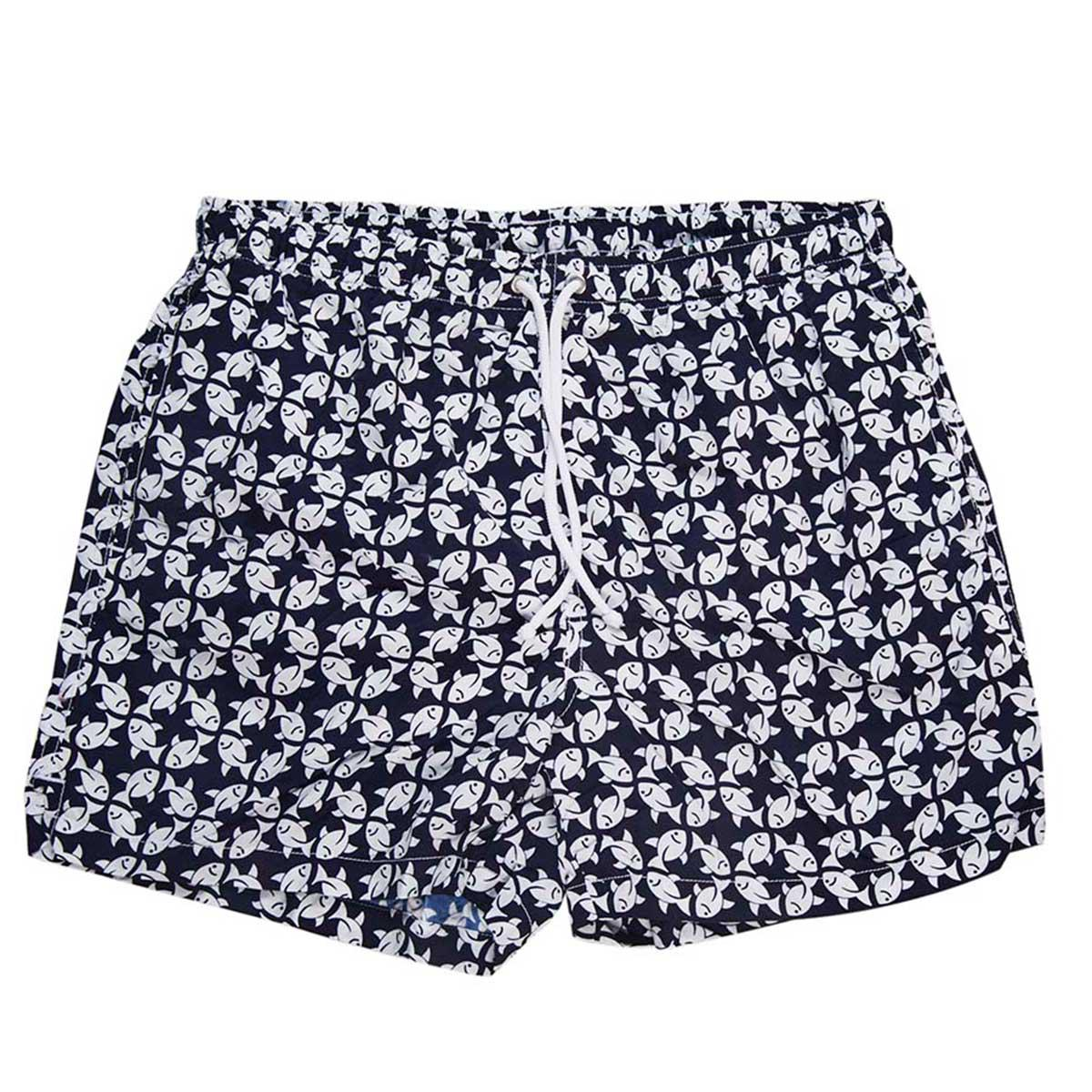 Blue and Red Patterned Swim Shorts Calabrese 1924 Official Online Great Deals Cheap Price Discount Supply PmGhhn8ns