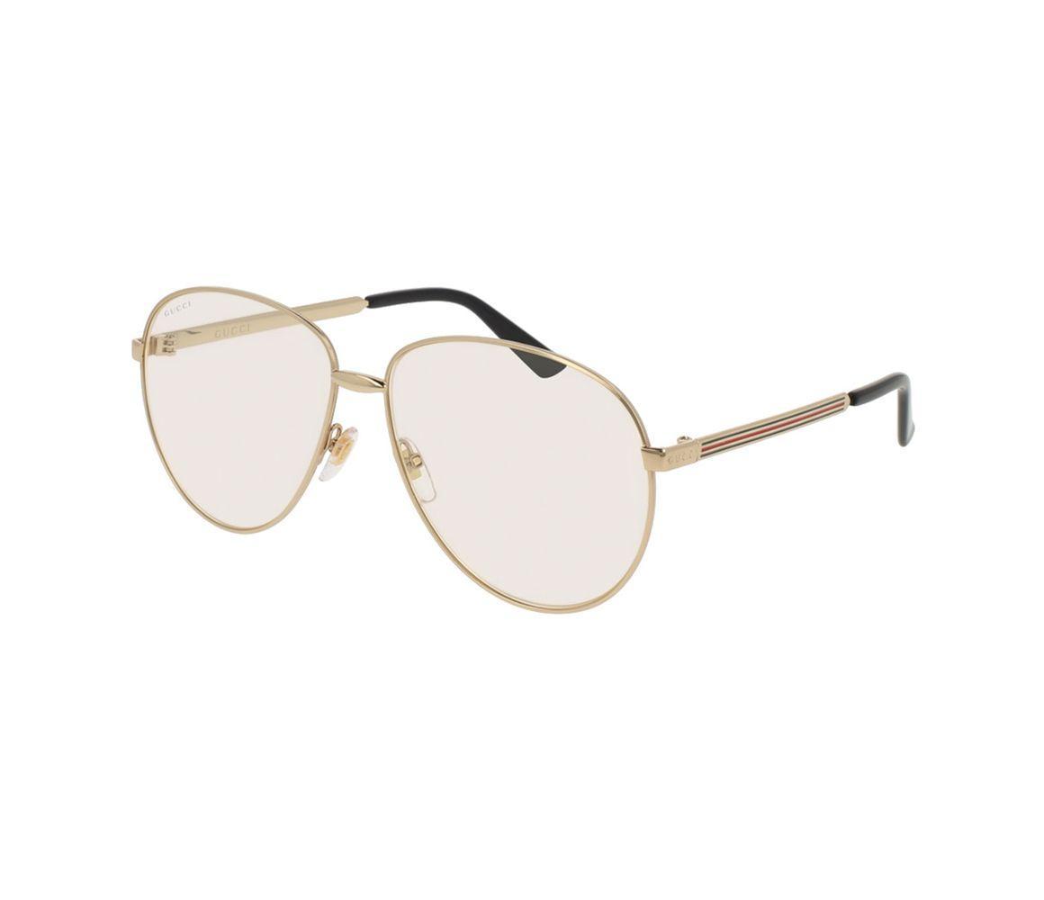 02619ca968b9c Lyst - Gucci Gold Metal GG0138S-003 Pilot Sunglasses in Metallic for Men